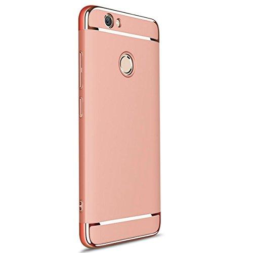Funda Huawei P8 Lite (2017) / honor 8 lite/ Nova Lite Qissy® 3 en 1 Ultra delgado Bumper Carcasa Anti-Scratch Slim Fit Protectora Case Cover para Huawei P8 Lite 2017 teléfono (Oro rosa)