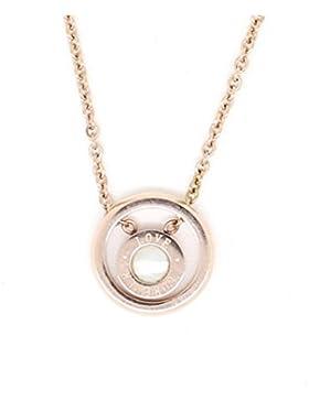Feine rosegoldfarbene Edelstahl Kette mit rundem Anhänger mit Perlmutt von Meiner Glitzerwelt Necklace Halskette