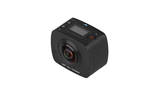 NK Cámara Acción Deportiva 360º AC3091-36D - FullHD 1080p | Doble Óptica | Sistema Realidad Virtual | Soporte 360º Youtube | 1400mAh | Micrófono | Negro (Compatible Android & iOS) Trípode de Regalo