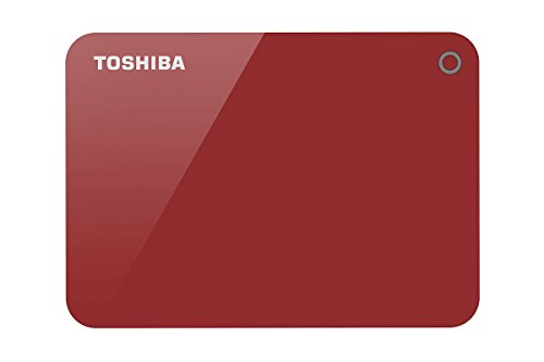 Toshiba HDTC910AR3AA Canvio Advance 1TB USB3.0 External Hard Drive (Red)