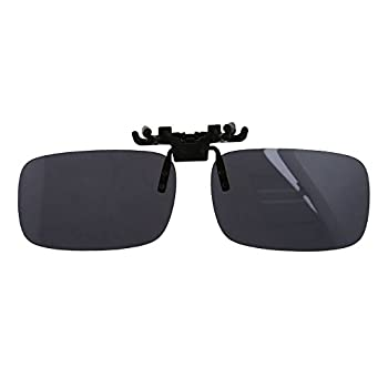 06922b5c27 SODIAL(R) Unisex Gray Lens Rectangle Flip Up Driving Sunglasses Clip On Polarized  Glasses
