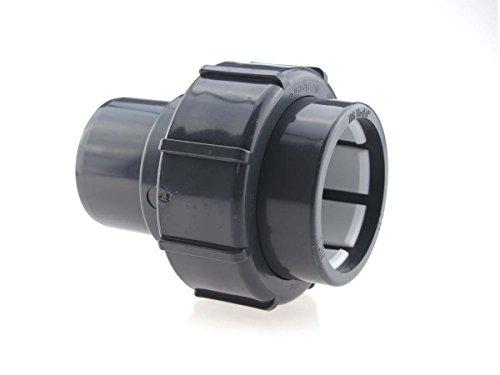 PVC-U FlexFit Klemmverschraubung IBG® gerader uebergang d 50mm -d 50 mm Klemm-Klebe