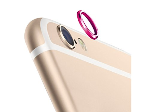 Phoenix Rear Camera Glass Lens Metal Protective Hoop Ring Guard Circle Cover Case Protector for iPhone 6 4.7 Hot Pink Color  available at amazon for Rs.145