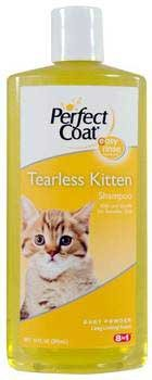 Eight In One (8 In 1) Pet Products Perfect Coat Tearless Kitten Shampoo - Baby Powder 10 Oz by Eight in One (8 in 1) (1 Shampoo 8in)