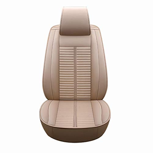 Babycool Coprisedili for auto,Set completo universale Sedile posteriore anteriore Cuscino interno for auto Adatto a 5 posti Auto con lino traspirante Comfort, 4 colori (Color : Beige)