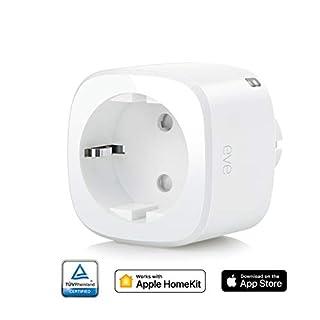 Eve Energy - Smarte Steckdose, Verbrauchsmessung, integrierte Zeitpläne, schaltet Geräte ein & aus, Sprachsteuerung, keine Bridge erforderlich, Bluetooth (Apple HomeKit)