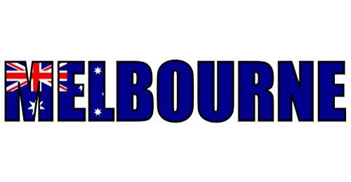 Samunshi® Melbourne Schriftzug Aufkleber in 4 Größen (10x2cm)