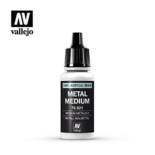 Vallejo Model Color - Vernice acrilica, tubetto da 17ml Metal Medium