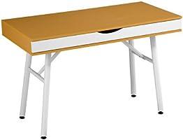 Premier Housewares 2403620 Table avec Jambes/Tablette Coulissante à 2 Compartments en Bois de Hêtre/Mélamine/Mélamine Blanc