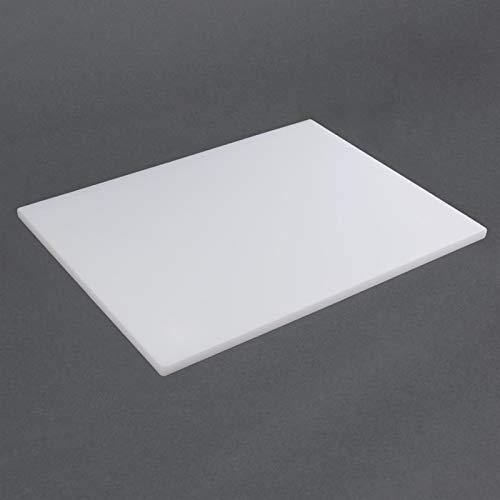 Hygiplas GL294LDPE Schneidebrett, 600mm x 400mm x 20mm, weiß