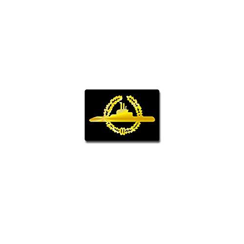 U-Boot Abzeichen Gold Aufkleber Sticker Tätigkeitsabzeichen Marine 10x7cm#A3706