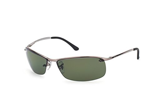 a40e5b1638e3fb Rayban Occhiali da sole Top Bar 3183 Gunmetal Polarized Green 004 9A