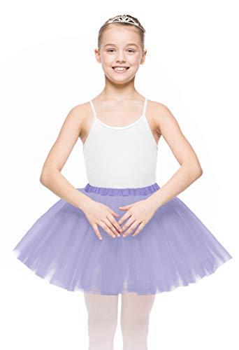 Mädchen Ballett Tutu Rock 3-lagiger Tüll mit Gummiband, 2009 (110/116, Violett)