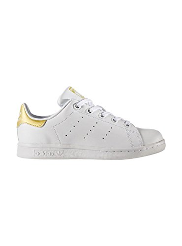 ADIDAS Scarpe Ragazzo Ragazza Stan Smith C BB0215 Primavera/Estate 2017 (35, White Gold Metallic)