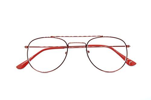 Charro Lettura Brille Vicino Moderne Vista Pc Smartphone Diottrie Unisex +2.50 Goccia Rosso