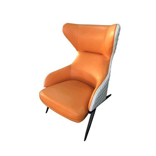 LGQ-ZW Wohnzimmer Sessel Einzelsofa Stuhl Startseite Holzstuhl Wohnzimmer Schlafzimmer Rezeption Lesespiel Stuhl Rest Sofa Cafe Stuhl (Color : Orange) - 2 Sitz Sofa Rezeption