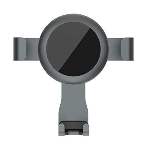 Car products Auto Vent Schnalle Handy Halterung Legierung Material 360 Grad Schwerkraft Navigationsrahmen, dreieckige Stabilität, Einhand Heben und Lösen (Color : Gray)