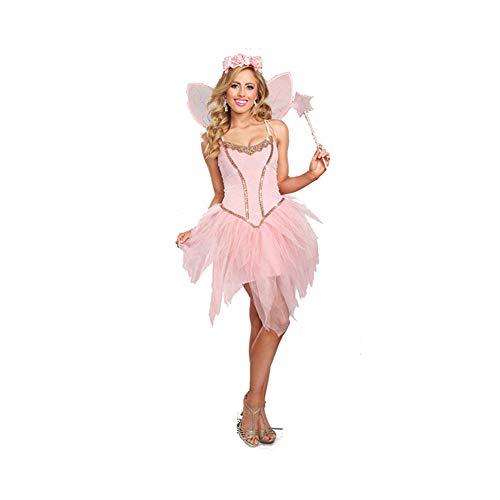 (YaXuan Butterfly Elf/Flower Fairy/Engel / Erwachsene Frauen Rollenspiel/Festival / Urlaub Halloween Kostüme Pink/Tutus (Farbe : Rosa, Größe : S))