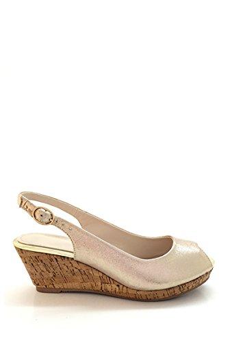 CHIC NANA . Sandale Compensée Style Satin.