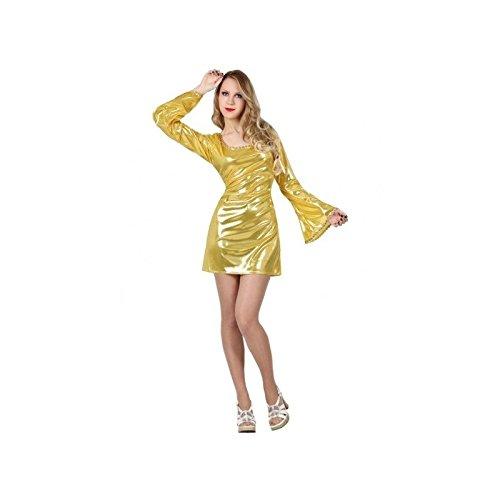 Atosa–7281–Kostüm–Disco–Gold–Damen–Größe 2