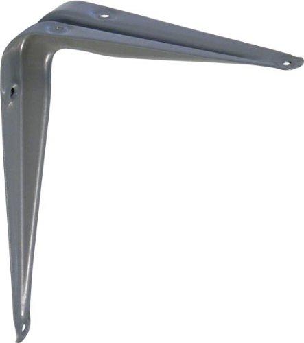 IB-Style - 1x Stahlblechkonsole   Diverse Größen 3 Farben   200x150 mm silbermatt   Regalhalter / Regalträger aus Stahlblech für Wandregale mit Holz- Metall- und Kunststoffböden