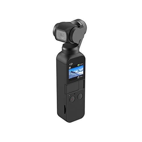 DJI Osmo Pocket - Stabilizzatore a 3 assi con fotocamera integrata, utilizzabile con smartphone, Android (USB-C), iPhone