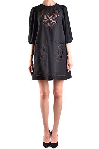 Red Valentino Damen Mcbi249072o Schwarz Polyester Kleid