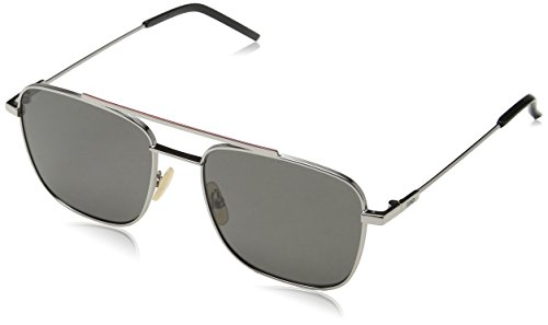 Fendi ff m0008/s m9 kj1 55, occhiali da sole uomo, grigio (dark ruthenium/gy grey)