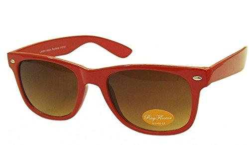 Rot Retro Fashion Designer Geek Nerd NHS Big Rave Party Brille groß Wayfarer Hot (groß)