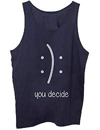 E Amazon ShirtBluseAbbigliamento itEmoji Top Canotte T zMUqSpGV