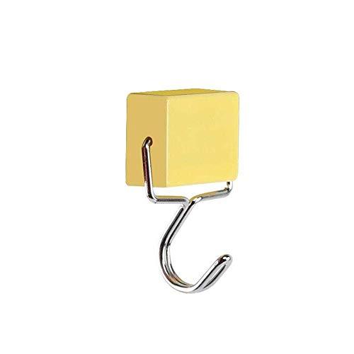 Aolvo multiuso super forte ganci magnetici, colorati ganci magnetici, potente ganci magnetici, creativo magnetico ganci (giallo) yellow