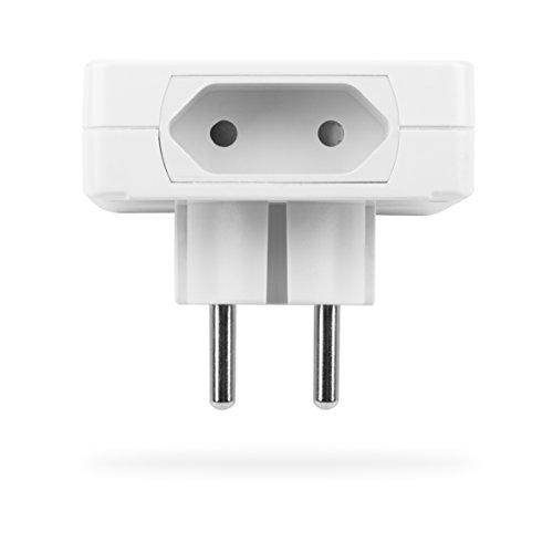 Smartwares SmartHome 2-er Set Funksteckdosen, extra flach für Geräte bis 460 W mit 4-Kanal Fernbedienung, 1 Stück, SH5-SET-FL - 2