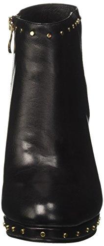 Tronchetto donna Cafè Noir MD221 pelle nero con borchie Nero