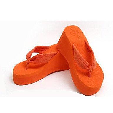 Da donna?s PVC scarpe tacco piatto infradito pantofole per esterno nero / blu / verde / rosso / blu marino / arancio US7.5 / EU38 / UK5.5 / CN38