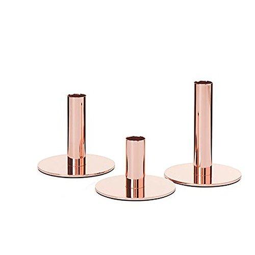 3 Kerzenhalter für Stabkerzen in Kupfer- Optik. Stabkerzenleuchter, Kerzenständer, Kerzenleuchter …