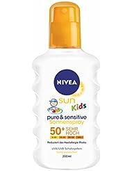 Nivea Sun Kids Pure & Sensitive Sonnenspray LSF 50+, 1er Pack (1 x 200 ml)