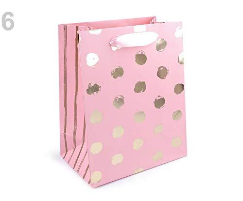 1stück 6 Hellrosa Arany Geschenktüte Klein, Herz, Schmetterling, Punkte, Flamingo, Geschenktüten Und Geschenktaschen, Geschenksäckchen, tüten -boxen, Dekoration (Hochzeit Gunsten Box-gold)