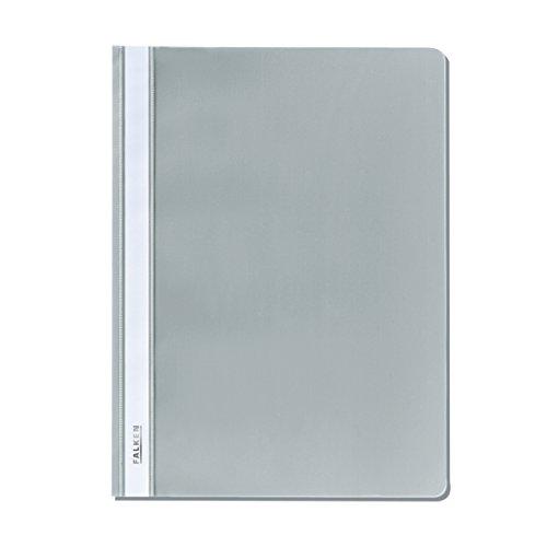 Original Falken Plastik-Schnellhefter. Aus PP-Folie für DIN A4 kaufmännische Heftung grau Hefter ideal für Büro und Schule