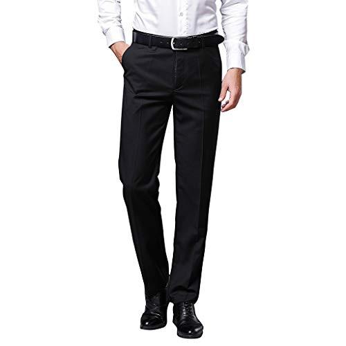 Herren Lange Business Hose Slim Fit Chino Hose Straight Leg Business gerader Regular Schnitt Jeanshose Chinohose Reißverschluss - Kelly-puppe Große