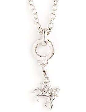 Charms Halskette 45 cm oder 70 cm Länge mit Charms Anhänger Einhorn in Samtbeutel