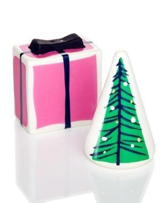 Lenox Village (Kate Spade New York Village Salz & Pfeffer Set LENOX Geschenk und Baum 8,3cm)