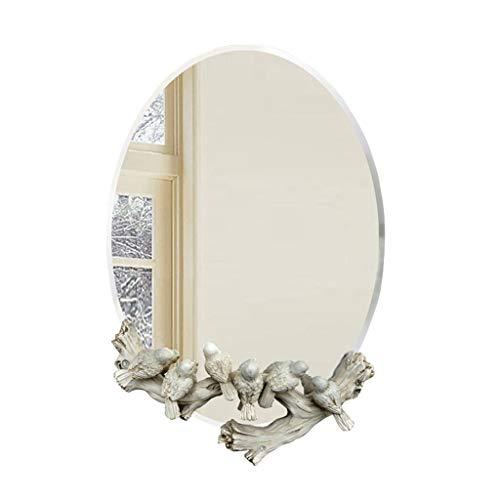J-Z Rahmenloses Badezimmer Wandmontierter Wasserdichter Silberner Spiegel Kinderzimmer-Spiegel Dekorativer Waschraum Halblanger Spiegel (Rahmenlose Badezimmer Spiegel)