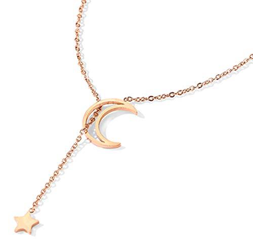 CHARLOE Damen Halskette, Frauen Mädchen Mode Quaste Multilayer Halskette Elegante Kette Schmuck Frau