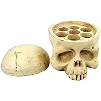 Creativo 3D Skull Tattoo Pigmento Ink Holder Portavasos Soporte 7 Hoyos Ink Holder Cupones Maquillaje Permanente