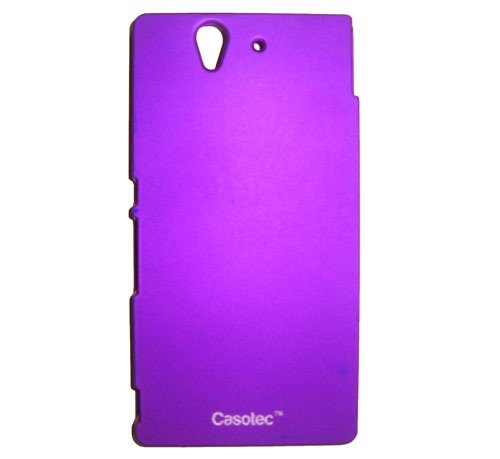 Casotec Ultra Slim Hard Shell Back Case Cover w/ Screen Protector for Sony Xperia Z - Purple  available at amazon for Rs.125
