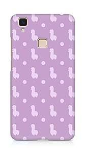 Amez designer printed 3d premium high quality back case cover for Vivo V3 Max (lavender design)