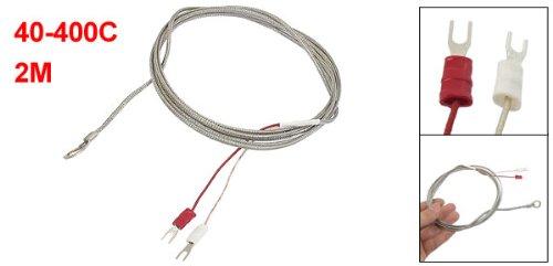 sourcingmap® 40-400C Bague 7,8mm Sonde thermocouple type K Capteur de température