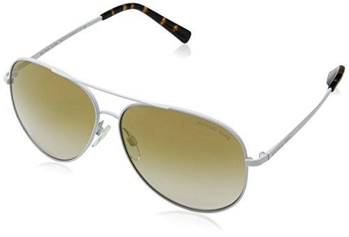 Michael Kors Unisex-Erwachsene KENDALL 11726E 60 Sonnenbrille, White/Goldmirrorgradient,