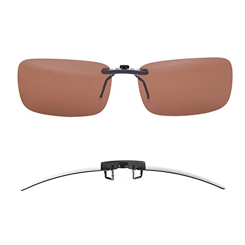 Meilleur achat TERAISE Polarized Clip-on Sunglasses Over Prescription Glasses Anti-Glare UV401 for Men Women Driving Travelling