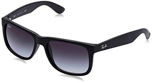 Ray-Ban 0RB4165 Justin Classic Sonnenbrille,  54,  Schwarz (601/8G)